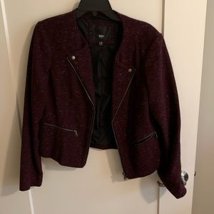 Mossimo Jacket with zipper and Hutton details